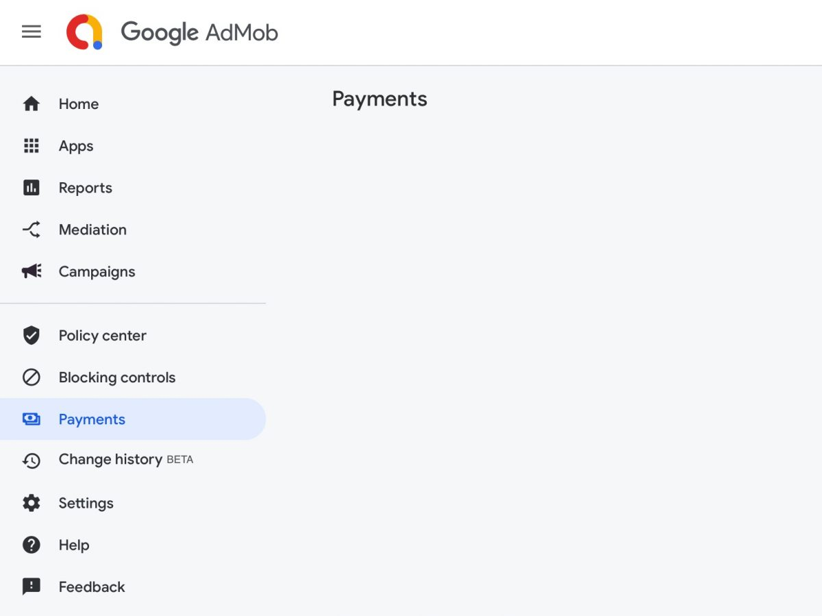 Google AdMob Payment Page is empty in Safari