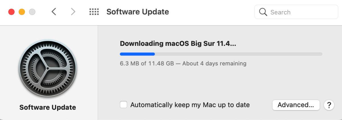 Downloading macOS Big Sur